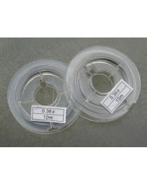 Acculon staaldraad, 0,38 mm, per 10 meter