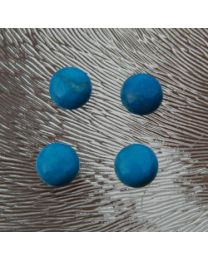 Cabochon turquoise howliet rond 8 mm