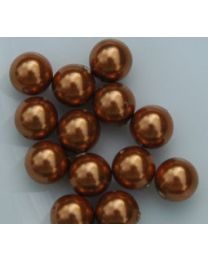 Swarovski parel copper 6mm, per 10 stuks