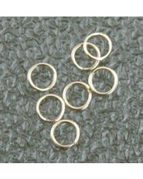 Vergulde splitring, goldfilled 4,5 mm, per stuk